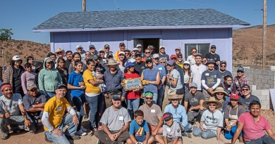 Rotarians and volunteers at the newly constructed home in Mexico. Photo: Kathryn Watson