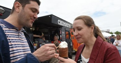 Filipe and Fabiana Oliveira picked up a Chimneys' treat at last year's Food Truck Frenzy. The event returns on May 26-27 and features 30 food trucks and more for families to enjoy. Photo: Jason Liebregts/Metroland