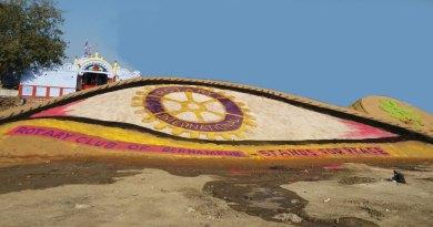 Sand eye on Rotary Day at Berhampur