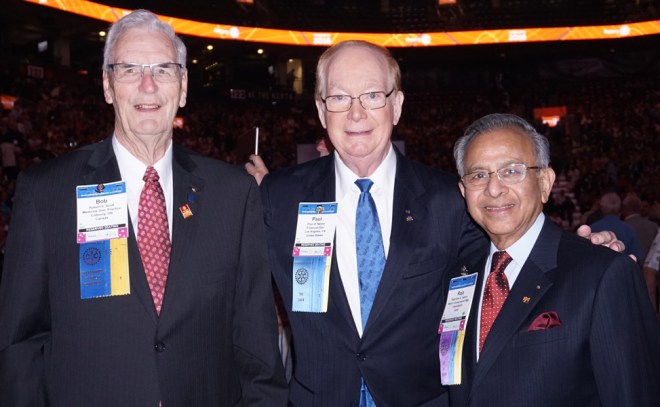 (From L) PRIP Robert Scott, TRF Trustee Chair Paul Netzel and PRIP Rajendra Saboo.