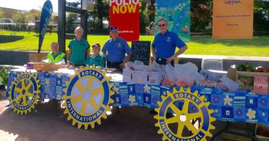 Rotary street stalls are legendary, but the one on Thursday has local farmers in its sights.