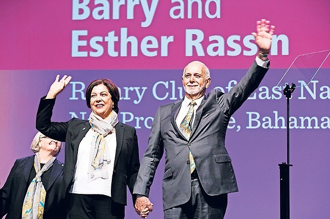 Rotary International President Barry Rassin and his wife Esther.