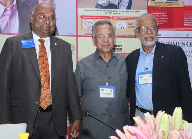 (From L) RI Director C Basker, PRIP Rajendra K Saboo and Dr Jacob John.