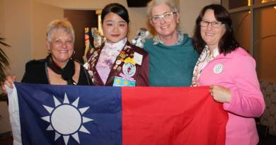 From L-R: Rob Uhl - District Youth Exchange Program (YEP) Chair, Huang Cheng Yu (Sylvia) - Exchange student from Taiwan, Jacquie Cousley - Rotary Nowra Youth Director and Karen Trigg - YEP Committee and Bomaderry Rotarian.