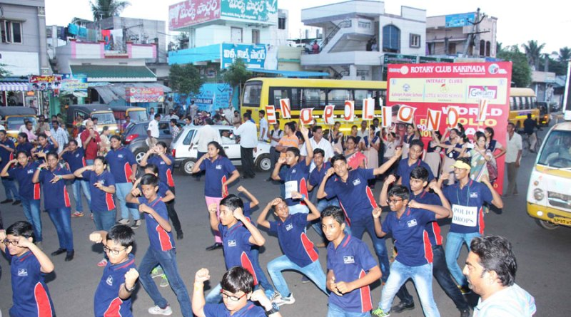 Interactors perform a flash mob.