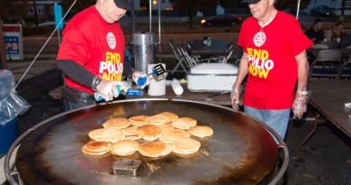 The Rotary Homecoming pancake breakfast will be held at the parking lot of Dirty's Bar on Saturday morning. Photo: Submitted