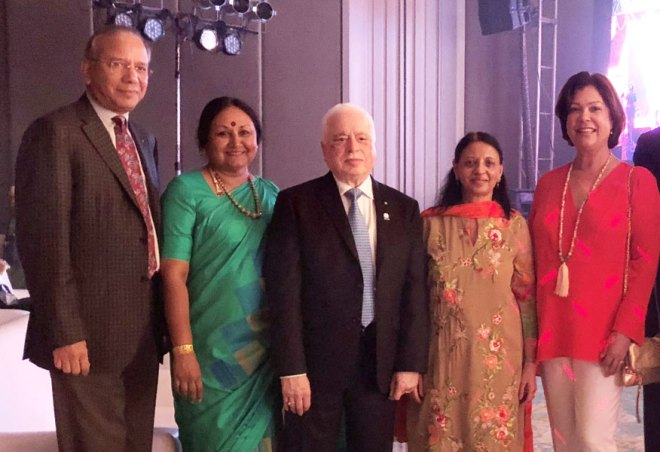 From L: PRIP K R Ravindran, Vanathy, RIPN Sushil Gupta, Vinita and Esther Rassin.