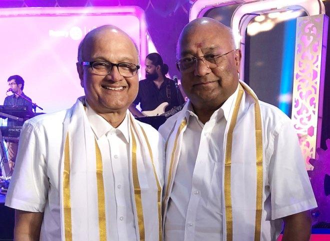 TRF Trustee Gulam Vahanvaty with RID Basker.