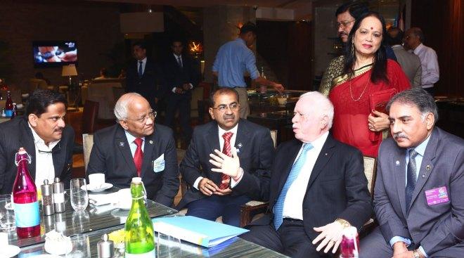 RIPN Gupta in conversation with DGNs Sangram Patil, Sandeep Kadam, Harish Motwani and Sunnil Mehra. PDG Lata Subraidu is also in the picture.