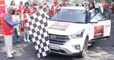 INPPC Chair Deepak Kapur flagging off a car rally in Delhi.