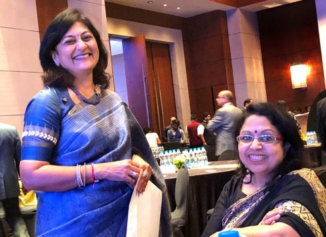 Sonal Sanghvi with Rashi Mehta.