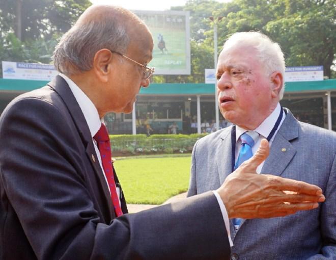 RIPN Sushil Gupta with TRF Trustee Gulam Vahanvaty.