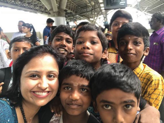 Children on a picnic organised by RC Madras Temple City.