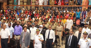D 3232 Governor Babu Peram along with serving and former officers of the Armed Forces paying respects to martyrs.