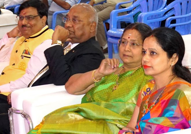 RIPR Pramod Kumar and his spouse Premlata with RID C Basker and Mala.