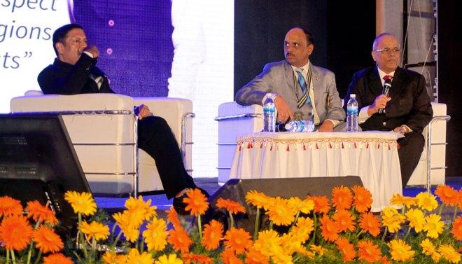 From L: Rtn D Ravishankar, DG RVN Kannan and past District Secretary Raja Govindaswamy.