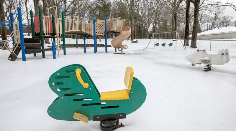 The playground at Veterans Memorial Park on Woodruff Street in Southington which will be relocated and upgraded. Photo: Dave Zajac, Record-Journal