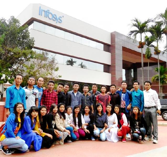 Manipuri youth visit Infosys, Bengaluru.