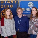 Rotary fetes student for observing 4-Way Test