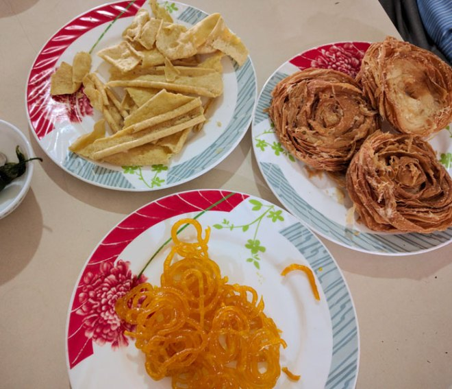 Traditional Gujarati delicacies.