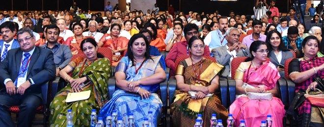 PDG Natarajan Nagoji, Nandini Nagoji, Meera John, Mala Basker, Shanthi Raju and Nallammai Ramanathan among the audience.