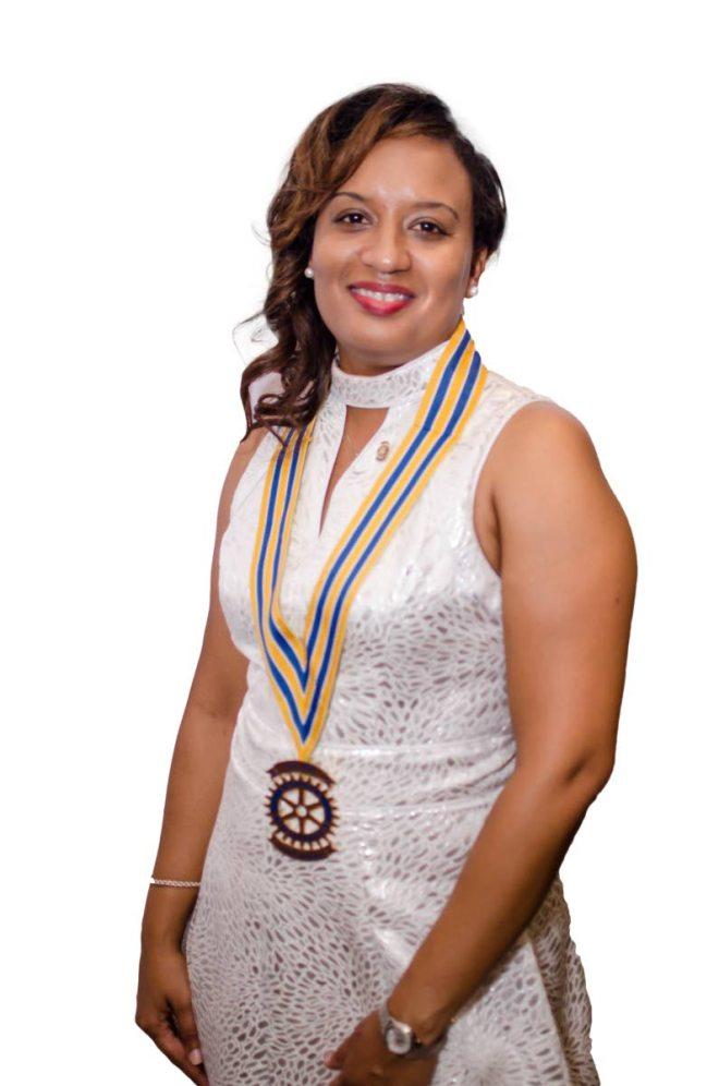 Darlene Blandin, President. Rotary Club of Piarco
