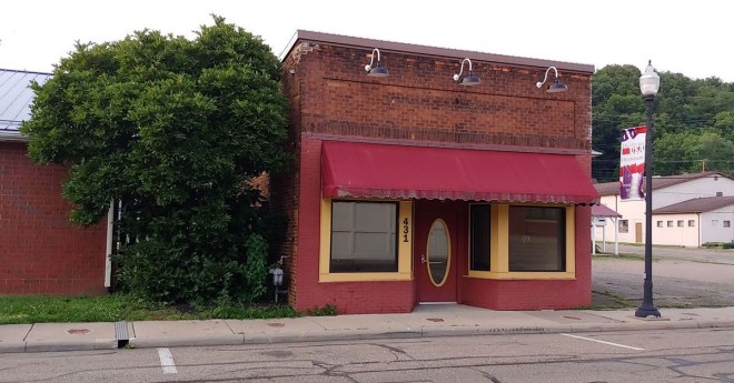 The Dennison Rotary Club will be moving its headquarters to this Center Street building after buying the property from the Railroad Festival's organising committee. Photo: Stacey Carmany, Tusco TV