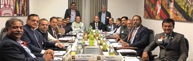 RIPN Shekhar Mehta and RID Kamal Sanghvi with members of RILM's Fundraising Committee.