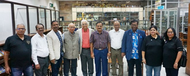 Delegates from other districts visiting the Nitish Laharry Children's Library at the Rotary Sadan in Kolkata.