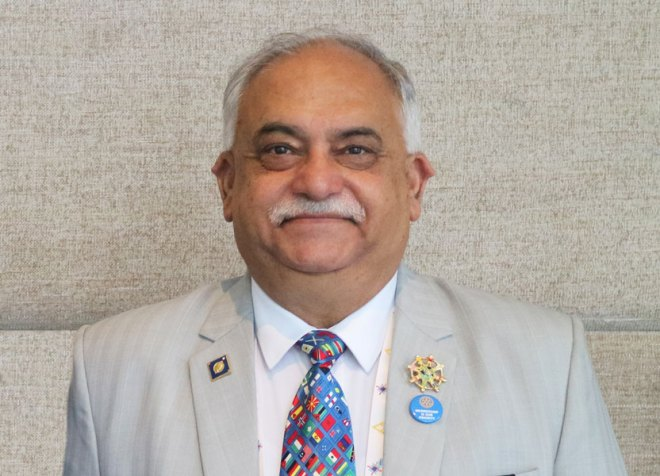 Dhiran Datta, Hosiery trader, RC East Bhopal, RID 3040
