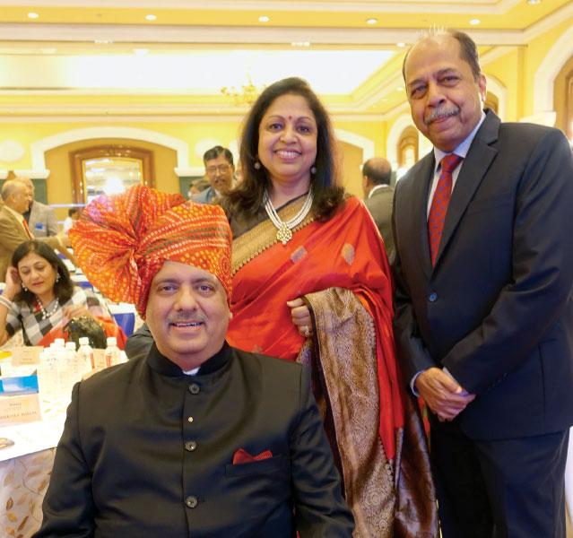 RIPN Mehta and Rashi with PDG Vijay Jalan in Mumbai.