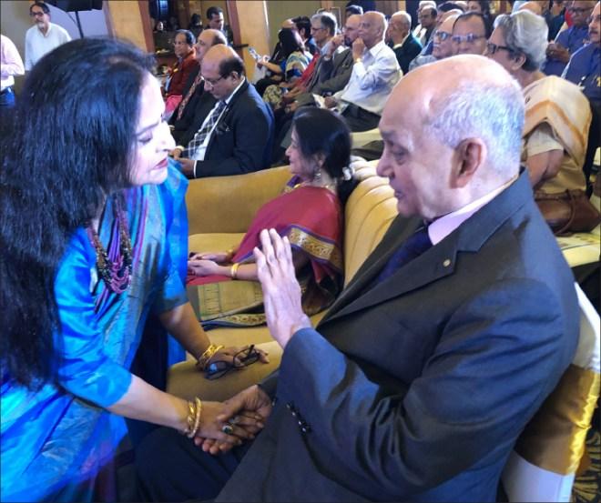 PRIP Banerjee in conversation with Rtn Bani Roy Choudhury (Purnendhu's mother).