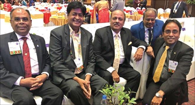 Team D 3232: (from L) PDG ISAK Nazar, RIDN AS Venkatesh, DG G Chandramohan and DGE S Muthupalaniappan with RIPN Shekhar Mehta.