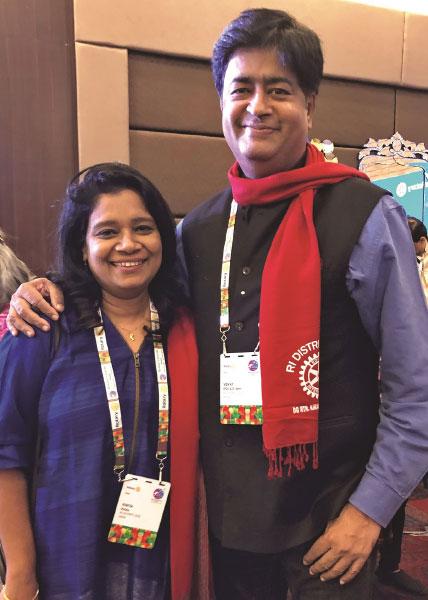 RIDN A S Venkatesh and Vinita.