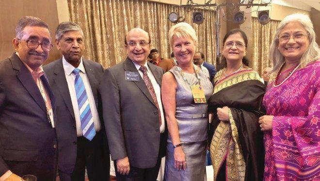Institute Chair TN Subramanian, PRIDs Y P Das, Ashok Mahajan, Trustee Jennifer Jones, Nayantara Mahajan and Vidhya Subramanian.
