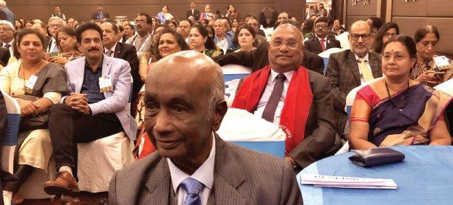 (From R) Mala Basker, PDG Sajjan Goenka ,PRIDs C Basker and Panduranga Setty, Sangita Bansal, PDG John Daniel and Meera.
