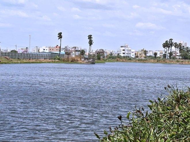 Puducherry Lake after restoration.