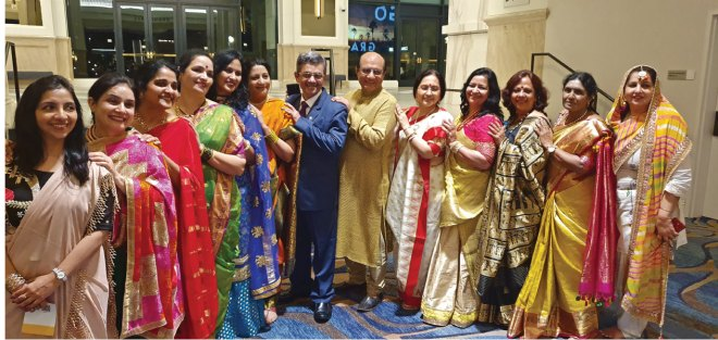 Spouses of DGEs with RI Directors Bharat Pandya and Kamal Sanghvi at the International Assembly, San Diego.