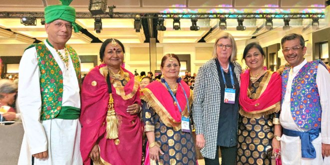 From L: TRF Trustee Chair-elect K R Ravindran, Vanathy, Madhavi, Susanne Knaack, Sonal and RID Pandya.