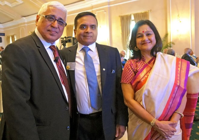 Saumen Ray with DG Ajay Agarwal and his wife Mamta.