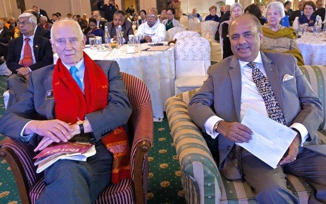 RIPN Shekhar Mehta with David Palmer.