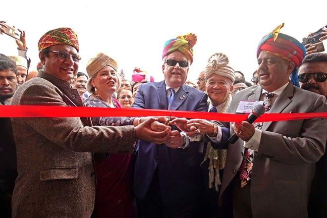 RID Kamal Sanghvi, Gay, RI President Mark Maloney, Trustee Chair Gary Huang and RIPN Shekhar Mehta inaugurating the HOF.