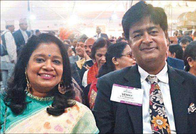 RIDN AS Venkatesh and his wife Vinita.