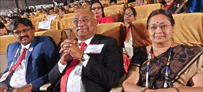 PRID C Basker and his wife Mala, with DG S Sheik Saleem.