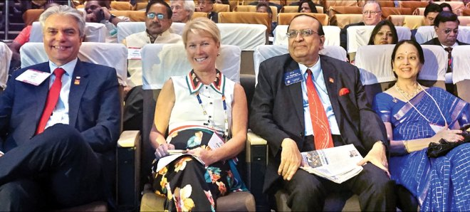 (From L) Incoming Trustee Aziz Memon, TRF Trustee Jennifer Jones, PRID PT Prabhakar and Nalini.