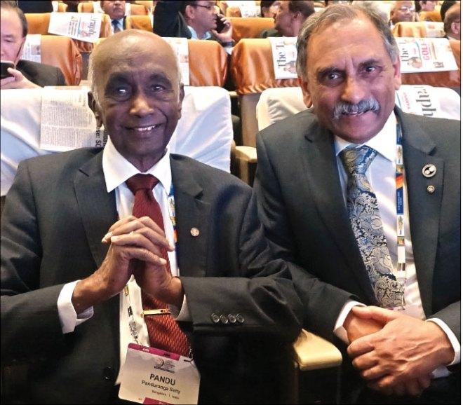PRID Panduranga Setty and PDG Nayan Patel.