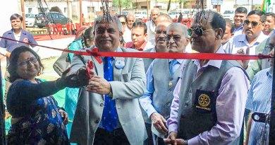DG Dhiran Datta inaugurating the refurbished school.