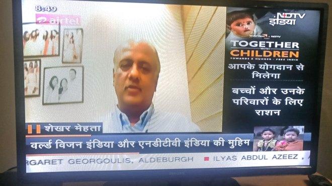 RIPN Mehta speaking on the NDTV channel.