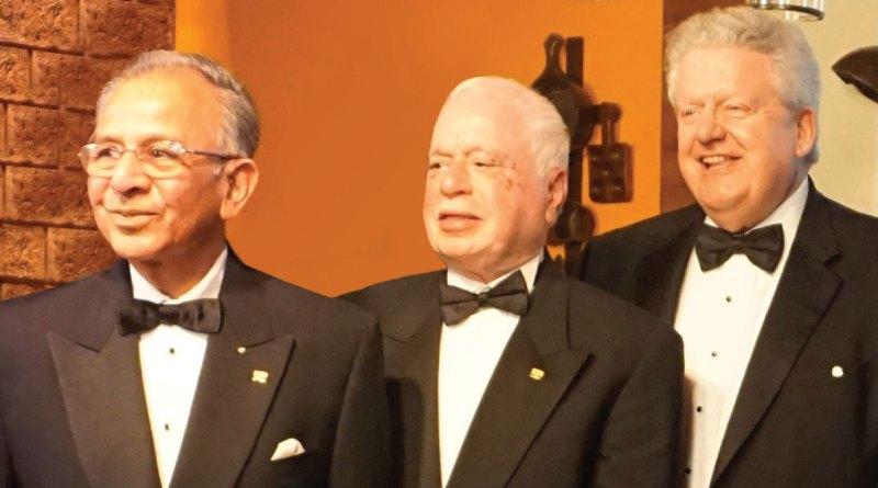 PRIP Rajendra Saboo, PRID Sushil Gupta and PRIP Mark Maloney (Flie photo).