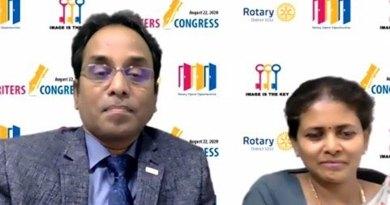 DG Muthupalaniappan and wife Kamala at the virtual meet.